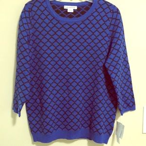 Liz Claiborne Sweater Pullover SZ L New Wi…